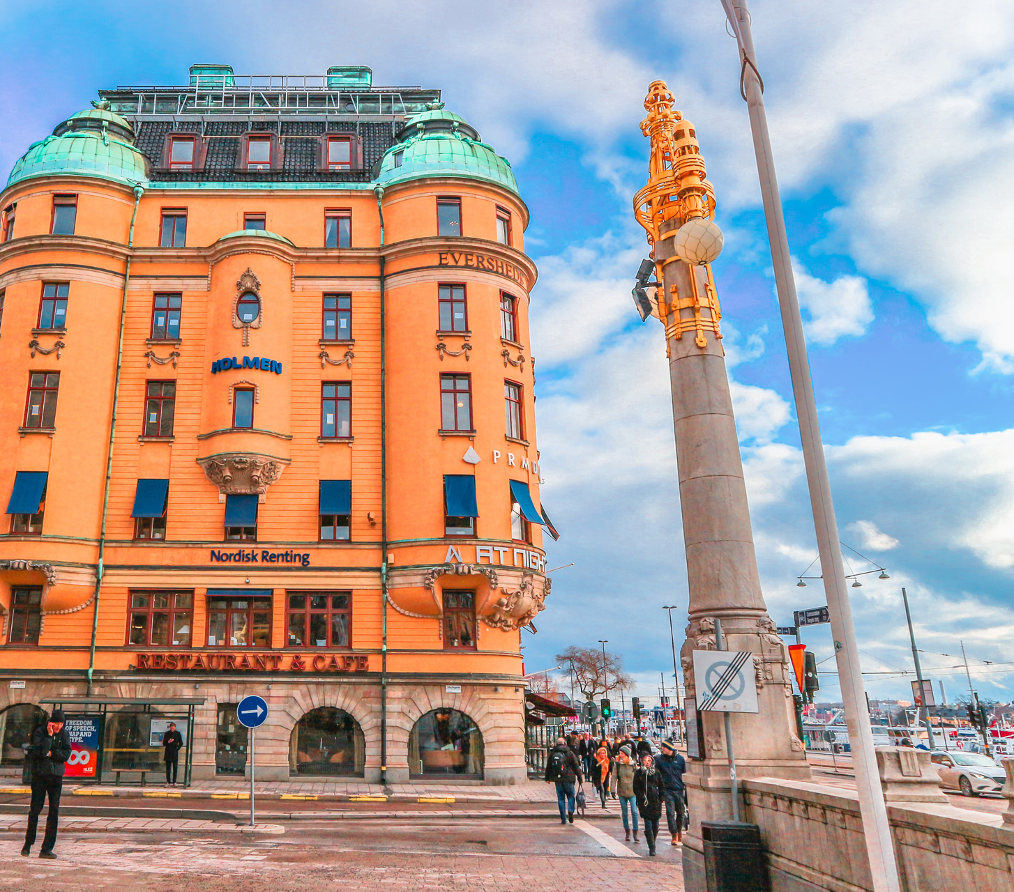 Beautiful building in Stockholm